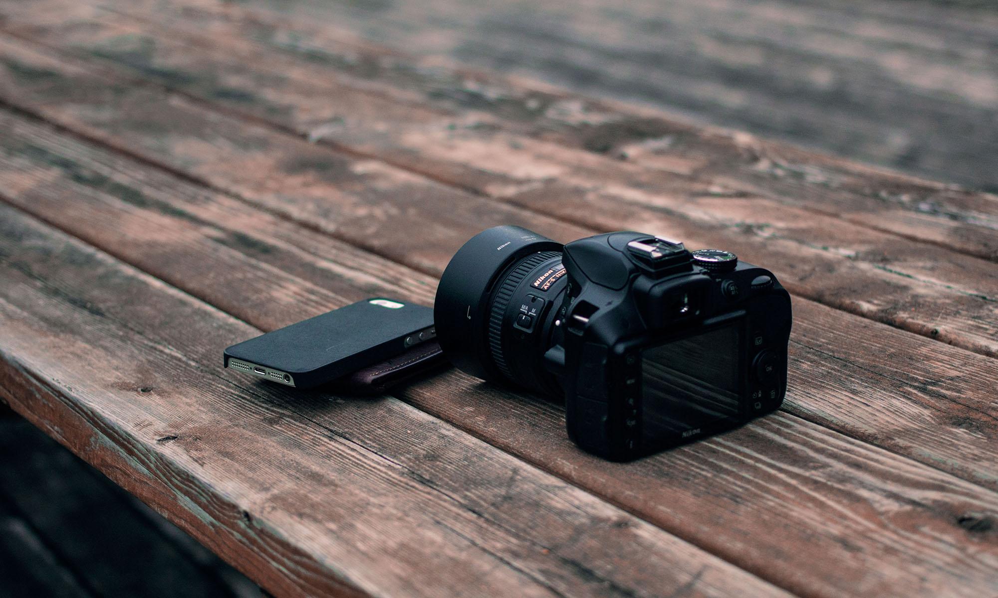 Camera on table SnapStock