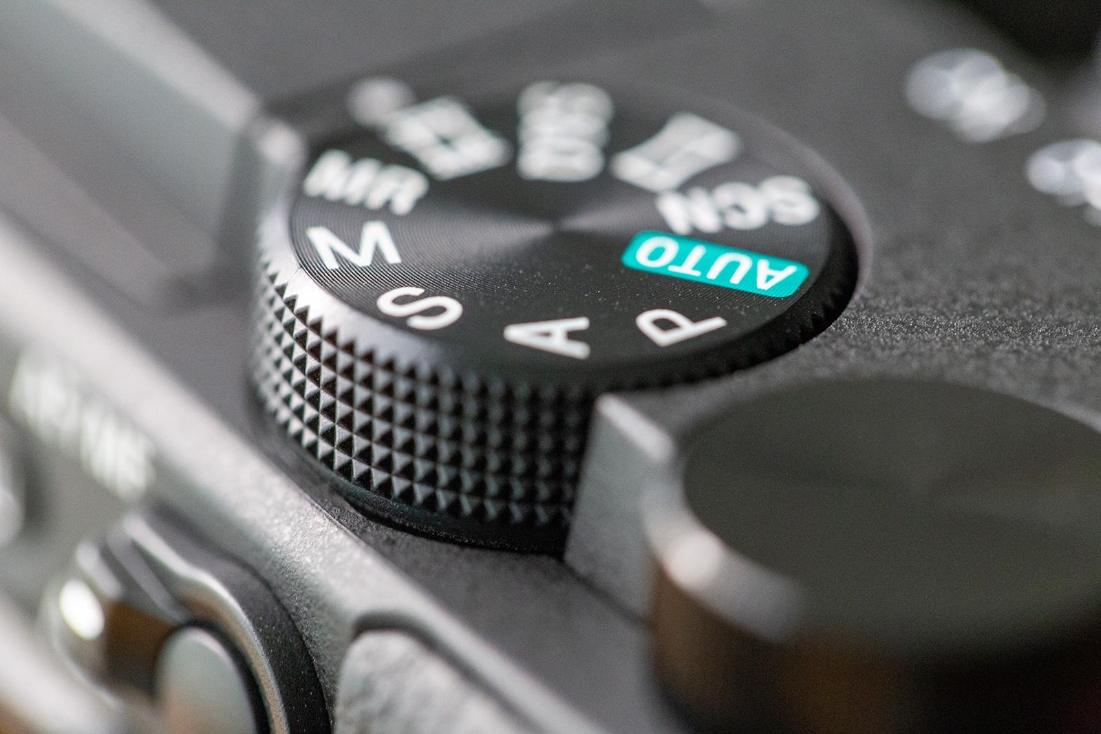 Dials on a camera