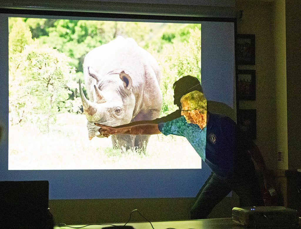 Graham Harvey's 'Magic of Africa' presentation at the Southern Photographic Society - photo by Jim Gibson