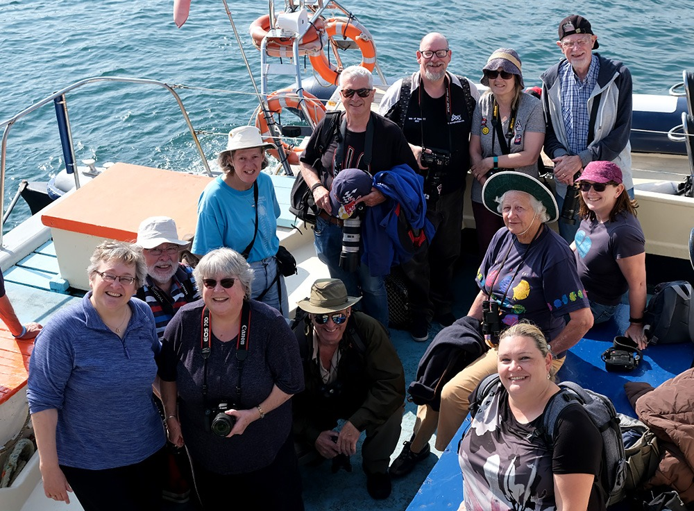 SPS members on the coastal cruise in August 2020
