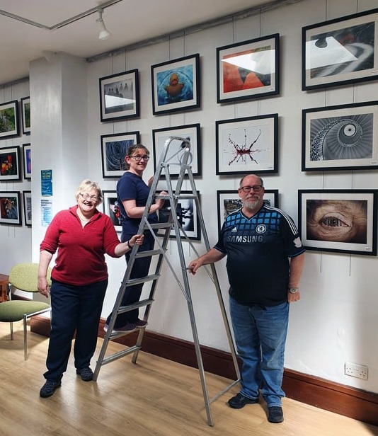 Setting up the 50th Anniversary Exhibition